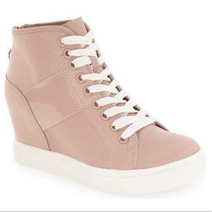 Steve Madden Lussious Pink Hidden Wedge Sneakers